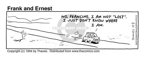 Comic Strip Bob Thaves Tom Thaves  Frank and Ernest 1994-12-03 traveler