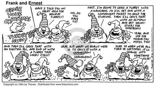 Comic Strip Bob Thaves Tom Thaves  Frank and Ernest 1994-12-04 chameleon