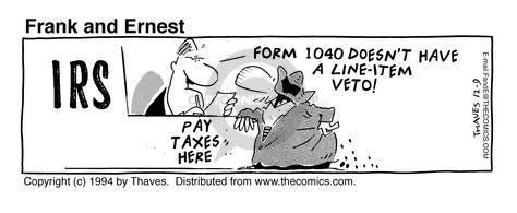 Comic Strip Bob Thaves Tom Thaves  Frank and Ernest 1994-12-09 tax