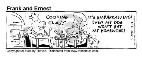 Comic Strip Bob Thaves Tom Thaves  Frank and Ernest 1994-12-10 embarrass