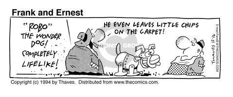 Comic Strip Bob Thaves Tom Thaves  Frank and Ernest 1994-12-16 carpet