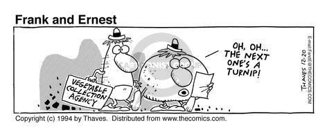 Comic Strip Bob Thaves Tom Thaves  Frank and Ernest 1994-12-20 potato