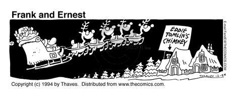Comic Strip Bob Thaves Tom Thaves  Frank and Ernest 1994-12-24 letter to Santa Claus