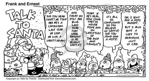 Cartoonist Bob Thaves Tom Thaves  Frank and Ernest 1994-12-25 specialty