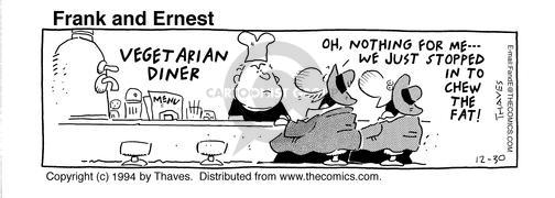 Cartoonist Bob Thaves Tom Thaves  Frank and Ernest 1994-12-30 fat