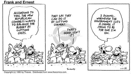 Comic Strip Bob Thaves Tom Thaves  Frank and Ernest 1995-01-01 Congress
