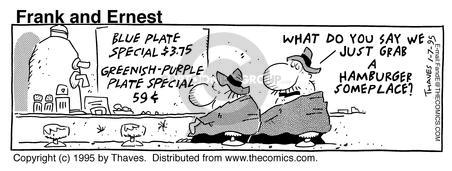 Comic Strip Bob Thaves Tom Thaves  Frank and Ernest 1995-01-07 shop