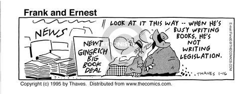 Comic Strip Bob Thaves Tom Thaves  Frank and Ernest 1995-01-16 Congress
