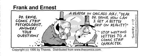 Comic Strip Bob Thaves Tom Thaves  Frank and Ernest 1995-01-17 letter