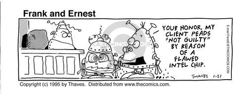 Comic Strip Bob Thaves Tom Thaves  Frank and Ernest 1995-01-21 computer