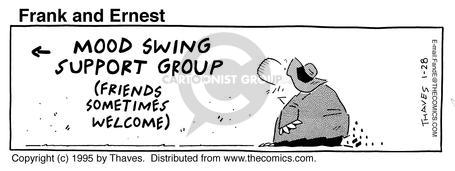 Comic Strip Bob Thaves Tom Thaves  Frank and Ernest 1995-01-28 friend