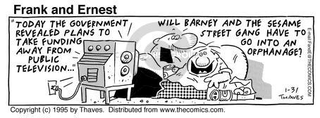Comic Strip Bob Thaves Tom Thaves  Frank and Ernest 1995-01-31 deficit