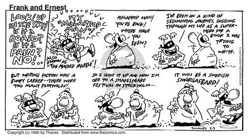 Comic Strip Bob Thaves Tom Thaves  Frank and Ernest 1995-02-05 syntax
