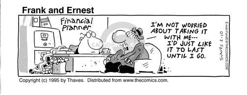 Comic Strip Bob Thaves Tom Thaves  Frank and Ernest 1995-02-10 finance