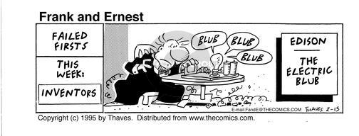 Comic Strip Bob Thaves Tom Thaves  Frank and Ernest 1995-02-15 fail