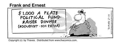 Comic Strip Bob Thaves Tom Thaves  Frank and Ernest 1995-02-17 food donation