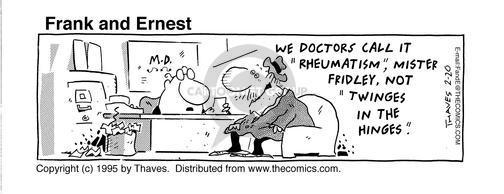 Comic Strip Bob Thaves Tom Thaves  Frank and Ernest 1995-02-20 senior health