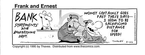 Comic Strip Bob Thaves Tom Thaves  Frank and Ernest 1995-02-22 lender