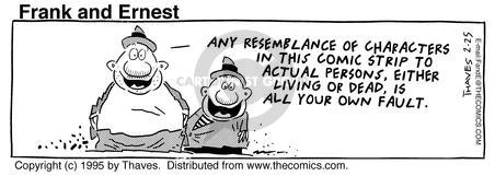 Comic Strip Bob Thaves Tom Thaves  Frank and Ernest 1995-02-25 afterlife