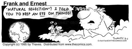 Comic Strip Bob Thaves Tom Thaves  Frank and Ernest 1995-03-01 extinction