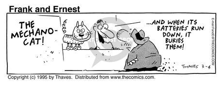Cartoonist Bob Thaves Tom Thaves  Frank and Ernest 1995-03-04 mechanical