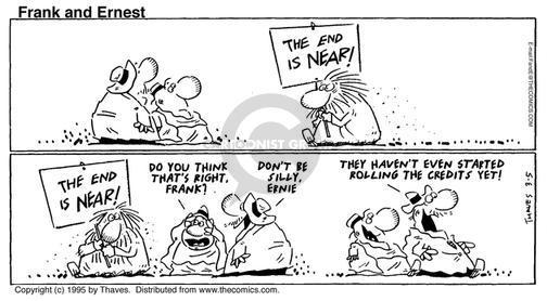 Comic Strip Bob Thaves Tom Thaves  Frank and Ernest 1995-03-05 prophetic