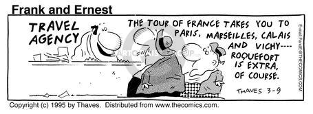 Comic Strip Bob Thaves Tom Thaves  Frank and Ernest 1995-03-09 travel agent