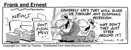 Comic Strip Bob Thaves Tom Thaves  Frank and Ernest 1995-03-10 Congress