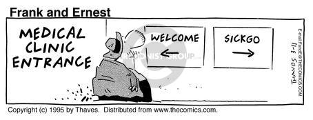 Comic Strip Bob Thaves Tom Thaves  Frank and Ernest 1995-03-11 disease prevention