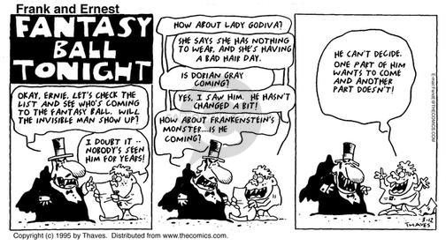 Comic Strip Bob Thaves Tom Thaves  Frank and Ernest 1995-03-12 festive