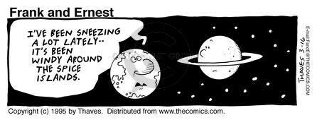 Cartoonist Bob Thaves Tom Thaves  Frank and Ernest 1995-03-16 star