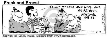 Cartoonist Bob Thaves Tom Thaves  Frank and Ernest 1995-03-17 biology