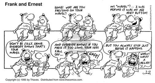 Comic Strip Bob Thaves Tom Thaves  Frank and Ernest 1995-03-19 fall