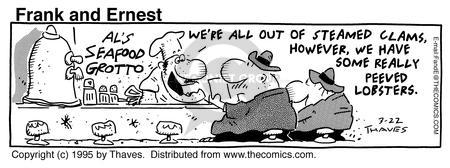 Comic Strip Bob Thaves Tom Thaves  Frank and Ernest 1995-03-22 prepare