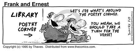 Comic Strip Bob Thaves Tom Thaves  Frank and Ernest 1995-03-23 rhythm