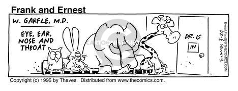 Cartoonist Bob Thaves Tom Thaves  Frank and Ernest 1995-03-24 consultant