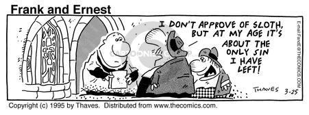 Comic Strip Bob Thaves Tom Thaves  Frank and Ernest 1995-03-25 congregation