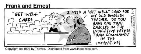 Comic Strip Bob Thaves Tom Thaves  Frank and Ernest 1995-03-27 education