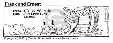Cartoonist Bob Thaves Tom Thaves  Frank and Ernest 1995-03-29 couple