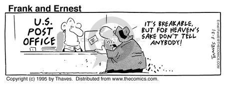 Comic Strip Bob Thaves Tom Thaves  Frank and Ernest 1995-03-31 weak