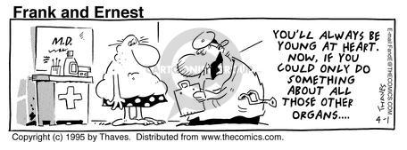 Comic Strip Bob Thaves Tom Thaves  Frank and Ernest 1995-04-01 cardiovascular
