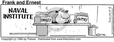 Comic Strip Bob Thaves Tom Thaves  Frank and Ernest 1995-04-13 employee