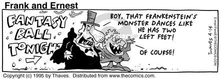 Comic Strip Bob Thaves Tom Thaves  Frank and Ernest 1995-04-14 festive