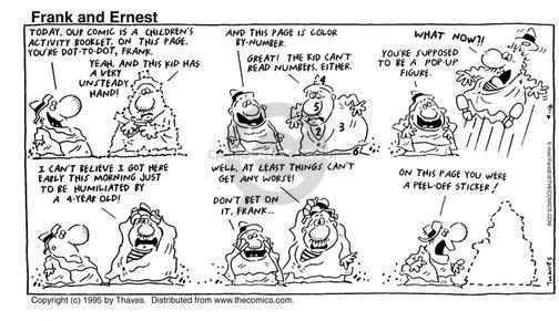 Cartoonist Bob Thaves Tom Thaves  Frank and Ernest 1995-04-16 pop-up book