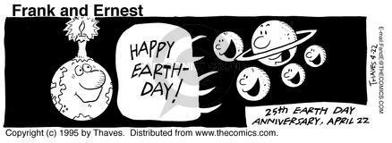 Cartoonist Bob Thaves Tom Thaves  Frank and Ernest 1995-04-22 star