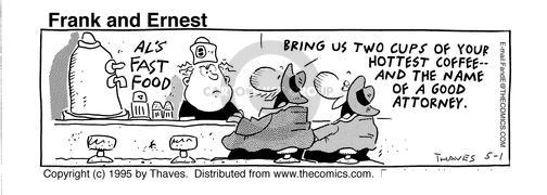 Cartoonist Bob Thaves Tom Thaves  Frank and Ernest 1995-05-01 good