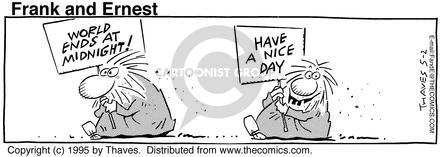 Comic Strip Bob Thaves Tom Thaves  Frank and Ernest 1995-05-02 prophetic