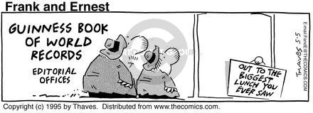 Comic Strip Bob Thaves Tom Thaves  Frank and Ernest 1995-05-05 pause