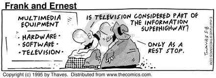 Comic Strip Bob Thaves Tom Thaves  Frank and Ernest 1995-05-08 pause