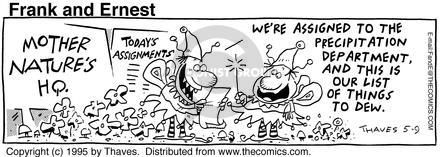 Comic Strip Bob Thaves Tom Thaves  Frank and Ernest 1995-05-09 management